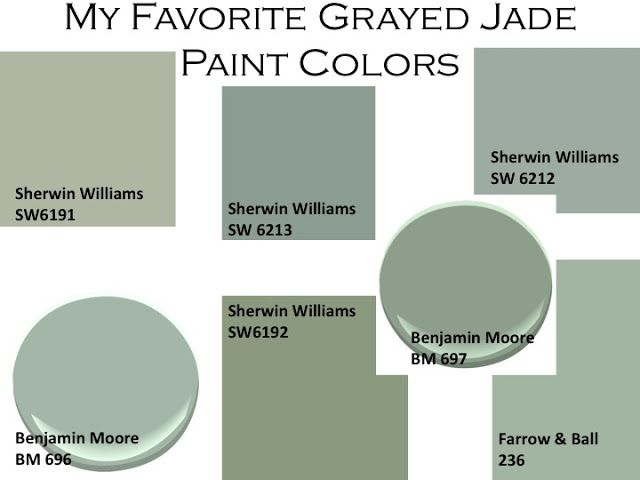 Grayed Jade paint for the home  I want a little of this in my house.