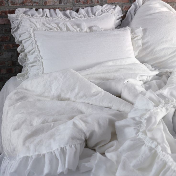 Frayed & Tiered Ruffle Duvet - linenshed
