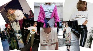 Il #vintage non passa mai di #moda, ed ecco rispuntare fuori e tornare di #tendenza le t-shirt di #Gucci con logo in bella vista, in puro stile anni 90!