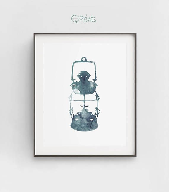 Sailor Lamp Print, Blue Sailor Lamp, Blue Ship Light, Digital Boat Art, DIY Wall Art, Nautical Décor, Bathroom Wall Art, Large Wall Art