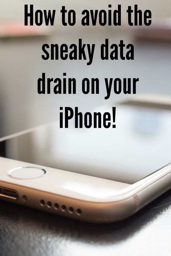 How to avoid the sneaky data drain on your iPhone