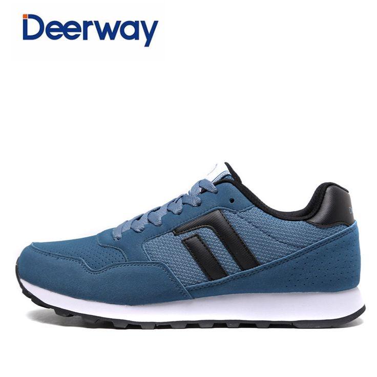 Deerway 2017 new running shoes for men zapatos de hombre mens cheap spor ayakkab scarpe da corsa sneakers High quality leather