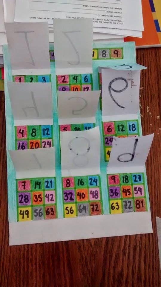TIPS DE ACTIVIDADES PARA TU GRUPO ESCOLAR: Trabajando las tablas de multiplicar de forma divertida