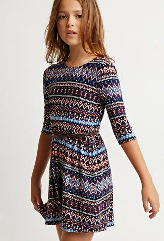 Tribal Print Bow-Back Dress (Kids) | Forever 21 girls - 2000082198