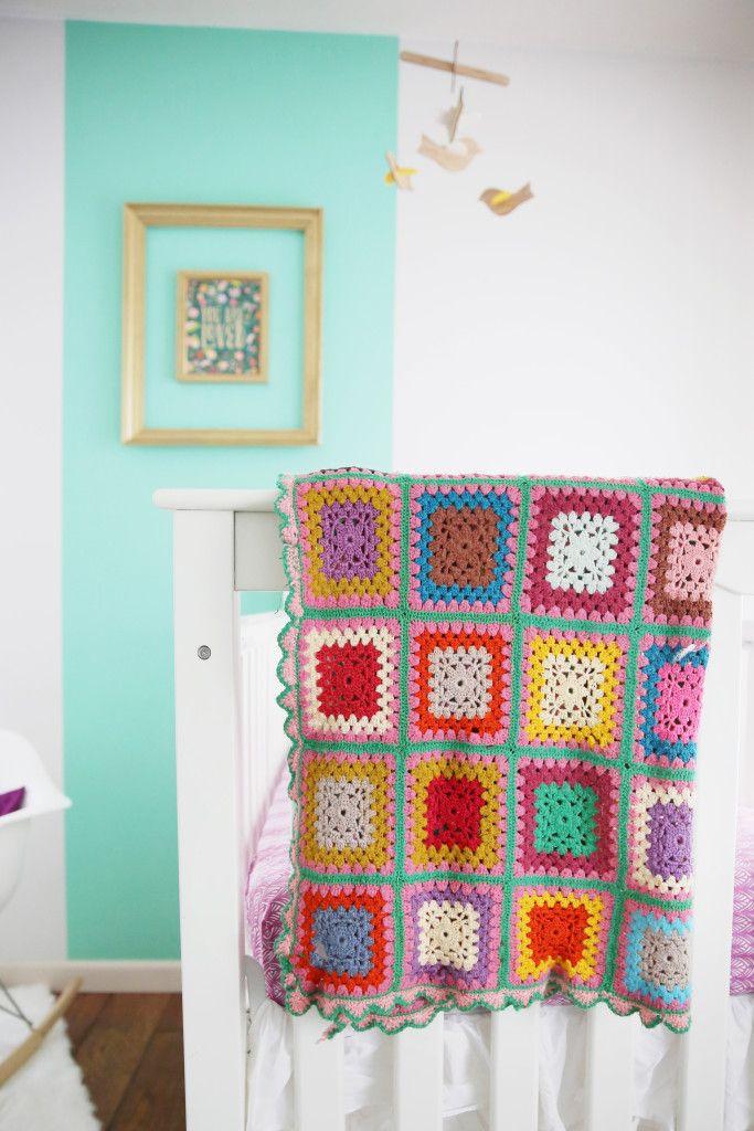 Project Nursery - Modern Mint Nursery with Heirloom Afghan - Project Nursery