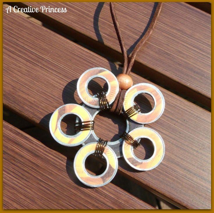 sunflower washer necklace