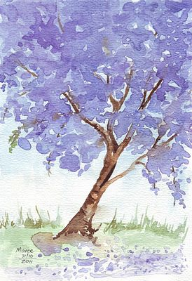 Flowers jacaranda personalised stationery - 17 Best Images About African Art On Pinterest Tanzania