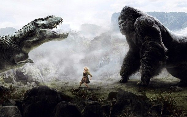 king kong Vs Dino HD Wallpaper. For more cool wallpapers, visit: www.Hdwallpapersbank.com You can download your favorite HD wallpapers here .. It's free