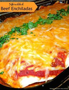 Shredded Beef Enchil Shredded Beef Enchiladas Recipe : http://ift.tt/1hGiZgA And @ItsNutella  http://ift.tt/2v8iUYW
