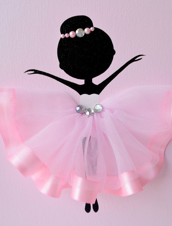 Ballerina nursery wall art pink and grey ballerina by for Ballerina bilder kinderzimmer
