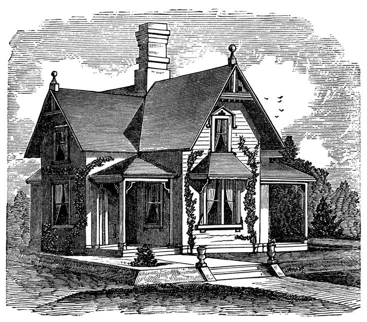 Story And A Half Victorian Home Free Clip Art