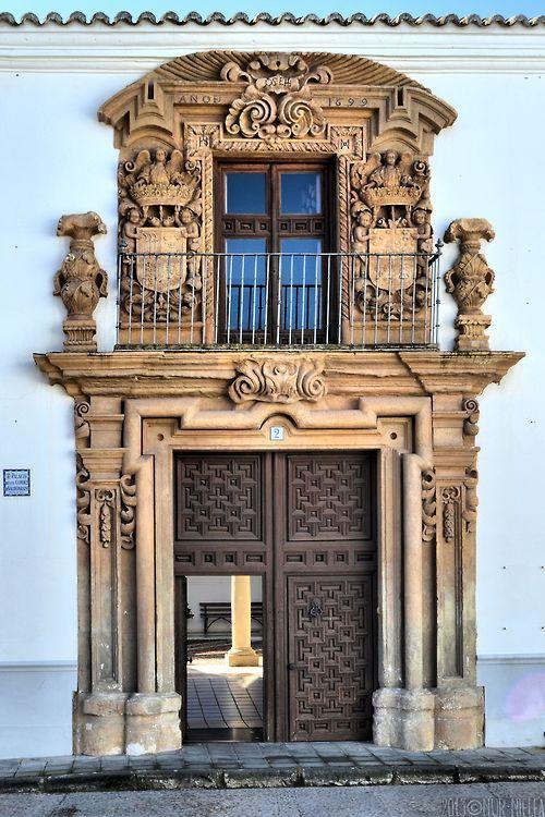 Puerta del Palacio de los Condes de Valdeparaíso (1699), Almagro. Ciudad Real, Castilla-La Mancha, Spain