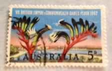 Australia  Stamp sc# 349, Vll British Commonwealth Games Perth,5c, World Stamp