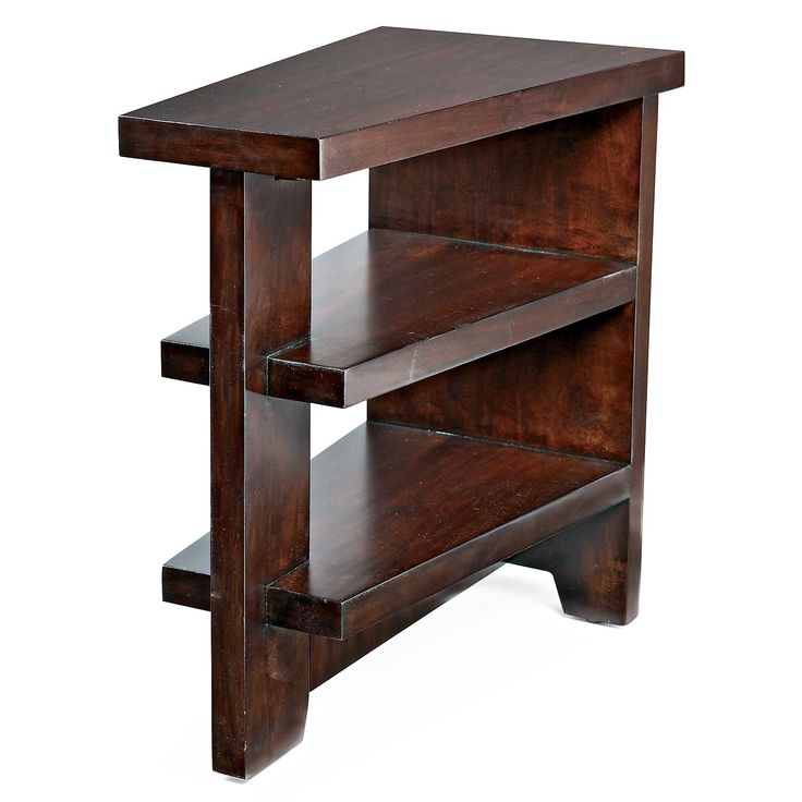 There are several good choices come into yourself you can consider as well as possible including to have wooden wedge shaped end table. Description from oghouses.com. I searched for this on bing.com/images