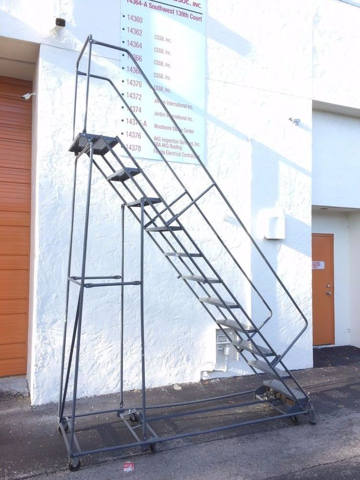 Ballymore 9 ft Rolling Platform Ladder For Sale Used made in USA #BallymoreLadder