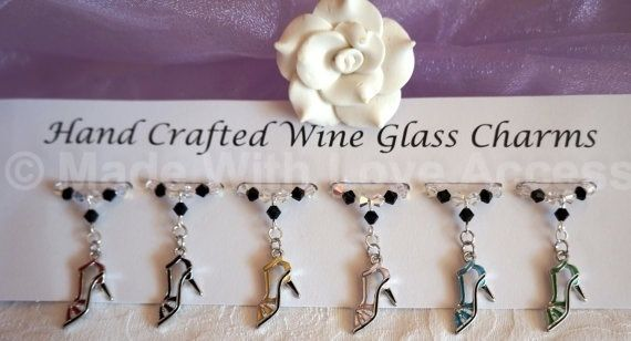 Wine Glass Charms - Shoe Wine Glass Charms - Birthday Gift Ideas - New Home Gift £9.99