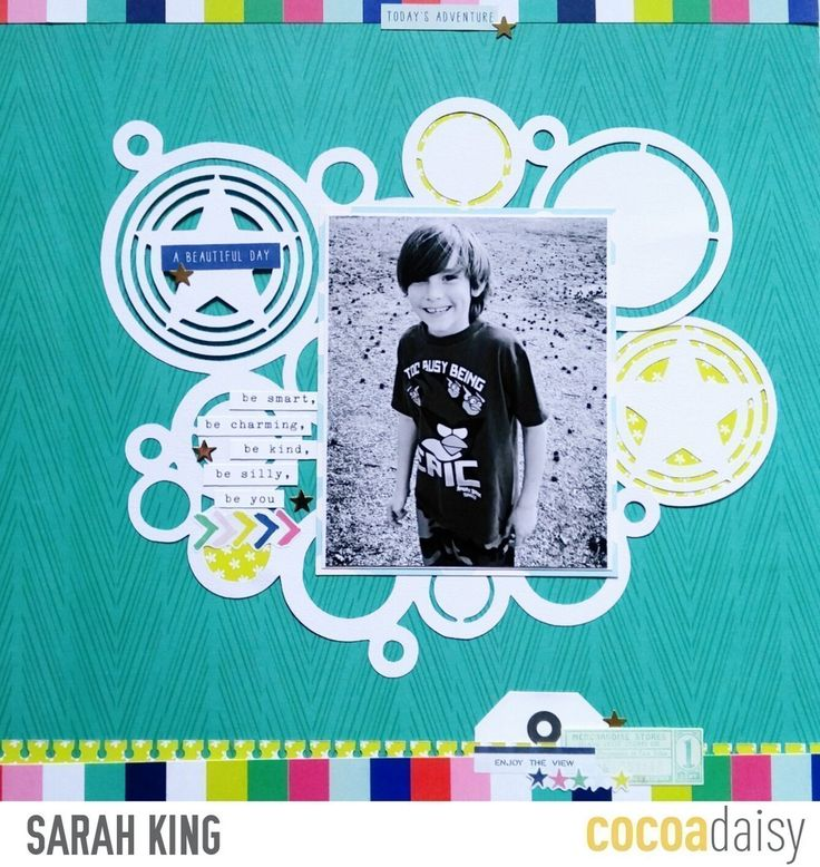Be Smart, Be Charming, by Sarah King using the Flutterby collection from www.cocoadaisy.com #cocoadaisy #kitclub #scrapbooking #cutfiles #background #diecuts #border #punch #tags #stickers