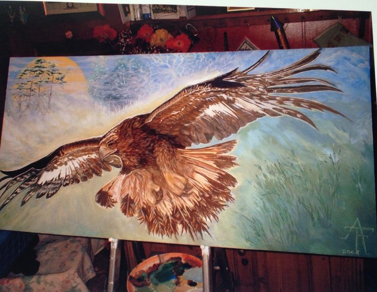 Mystical Wildlife painting of an Eagle