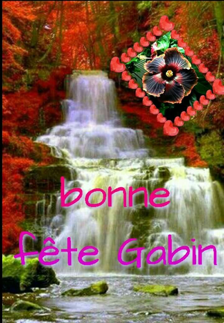 Carte Bonne Fete Gabin.Bonne Fete Gabin Saint Du Jour Saint Du Jour Saint Et