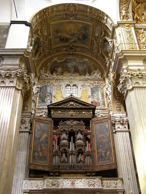 Organs in the cathedral of St. Lawrence, Genoa, Italy