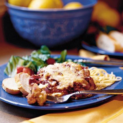 Chicken Parmesan    Easy-to-make and a perennial favorite, this Chicken Parmesan recipe for two is a keeper. You can find most of the ingredients in your pantry (especially if you use canned tomato sauce) and preparation is a snap.    *fr. MyRecipes.com