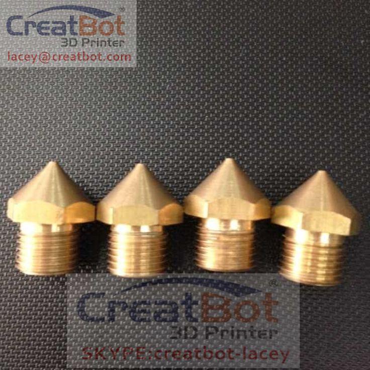 ( 5 pcs/ lot)  0.4mm Peek Brass FDM Printer Nozzle /Extruder CreatBot printer triple extruder parts  DIY 0.5mm 1.0mm available #Affiliate