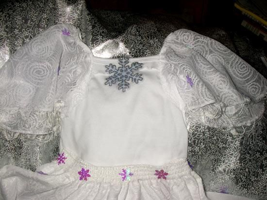 Марля костюм снежинок