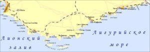 Лазурный Берег — юго-восточное Средиземноморское побережье Франции, протянувшееся от города Тулона до границы с Италией. На Лазурном Берегу также расположено княжество Монако. Другое название — Французская Ривьера (как часть Ривьеры, расположенной как во Франции, так и в Италии).
