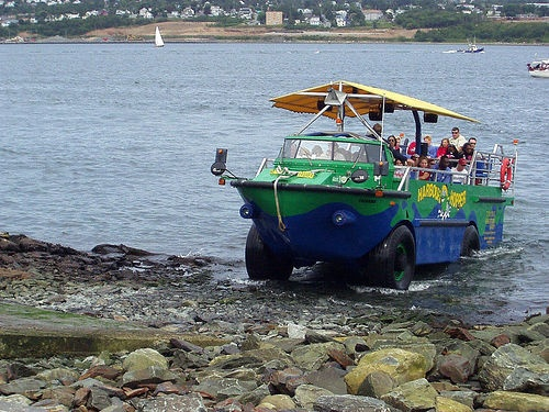 The Harbor Hopper, Halifax Nova Scotia... tour takes you on both land and Sea... great fun!