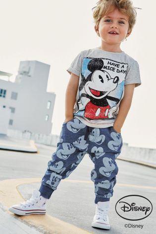 Buy Grey Mickey Mouse™ Short Sleeve T-Shirt (3mths-6yrs) from the Next UK online shop
