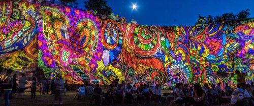 Night Projection fényfestés - Dombos Feszt 2014