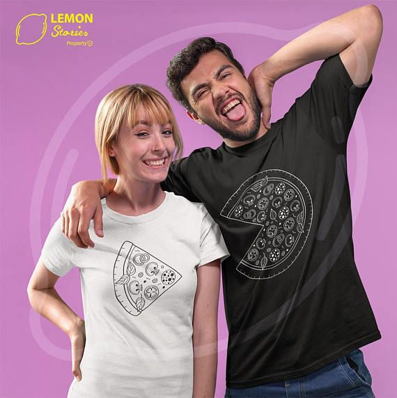 Couple matching shirts Pizza Price for 1 T-shirt couple tees