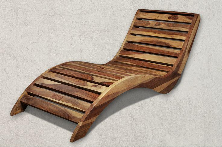 Sezlong Sunbreeze WAVERLY Sheesham Wood Sezlong dimensions in cm (H/W/D) 58x62x157cm