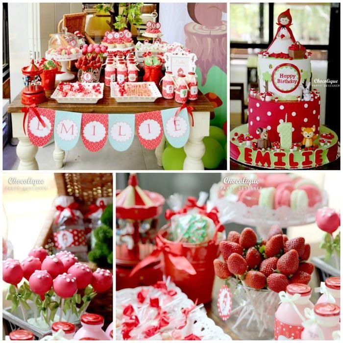 Little Red Riding Hood Woodland Party Full of Really Cute Ideas via Kara's Party Ideas   KarasPartyIdeas.com #LittleRedRidingHoodParty #Wood...