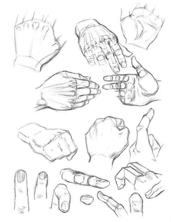 Hände zeichnen lernen für Anfänger-dekoking-com