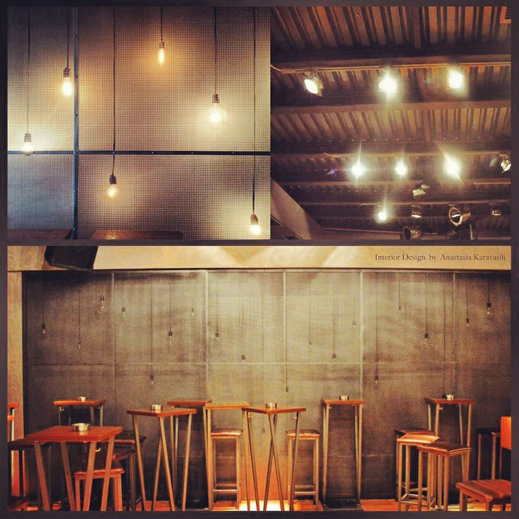 Bar Interior design / Industrial style / Lighting design / Lighting project