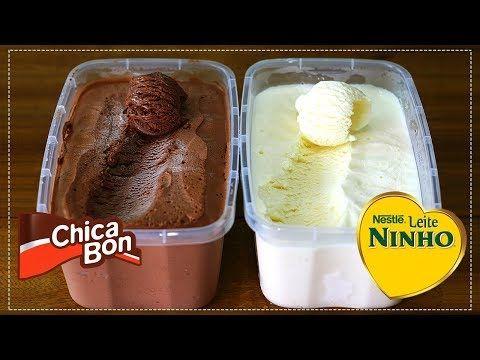 SORVETE CASEIRO CHOCOLATE E LEITE NINHO COMO VOCÊ NUNCA VIU - YouTube