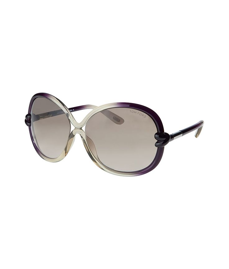 Ivory/Brown Round Frame Acetate Sunglasses