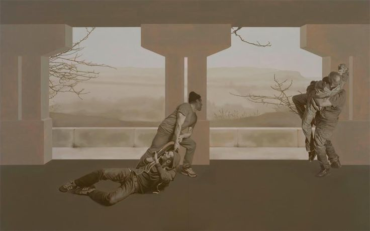 Guillaume Bresson, peintures en chantier | Mediapart