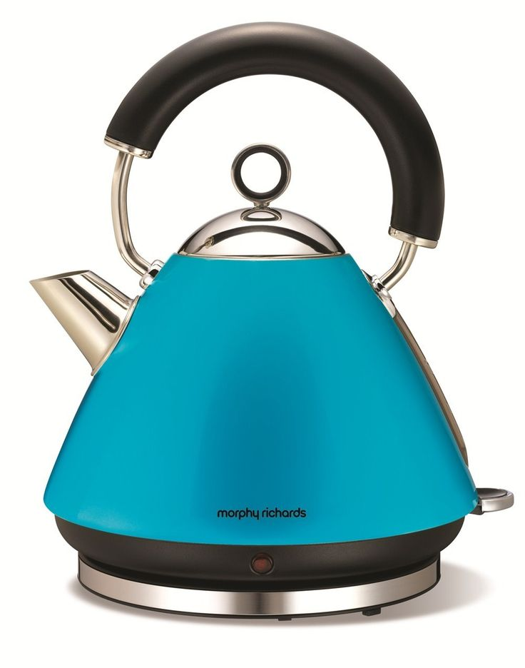 Morphy Richards Accents Pyramid Kettle Cyan Blue - 43829