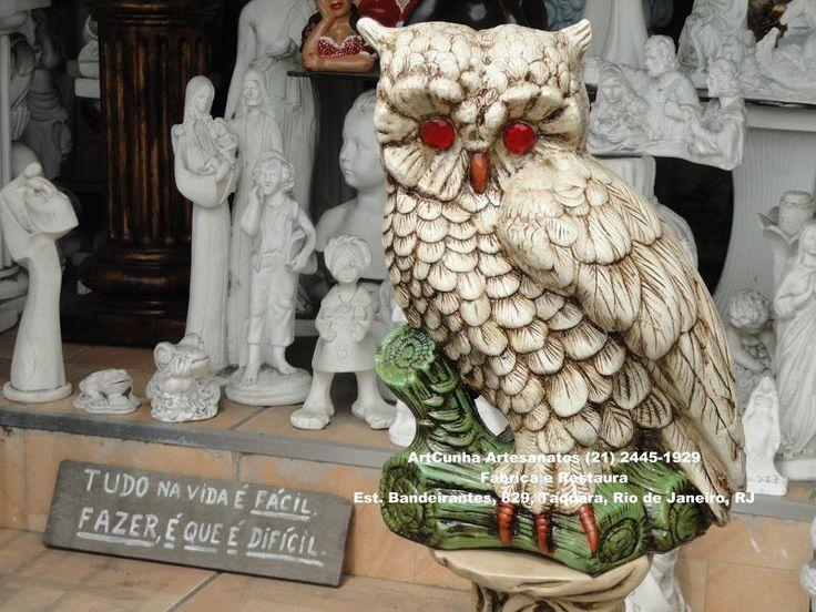 Artesanato Japones ~ 20 best images about Coruja Owl Corujas Owls ArtCunha Artesanato em Gesso (21) 2445 1929 on
