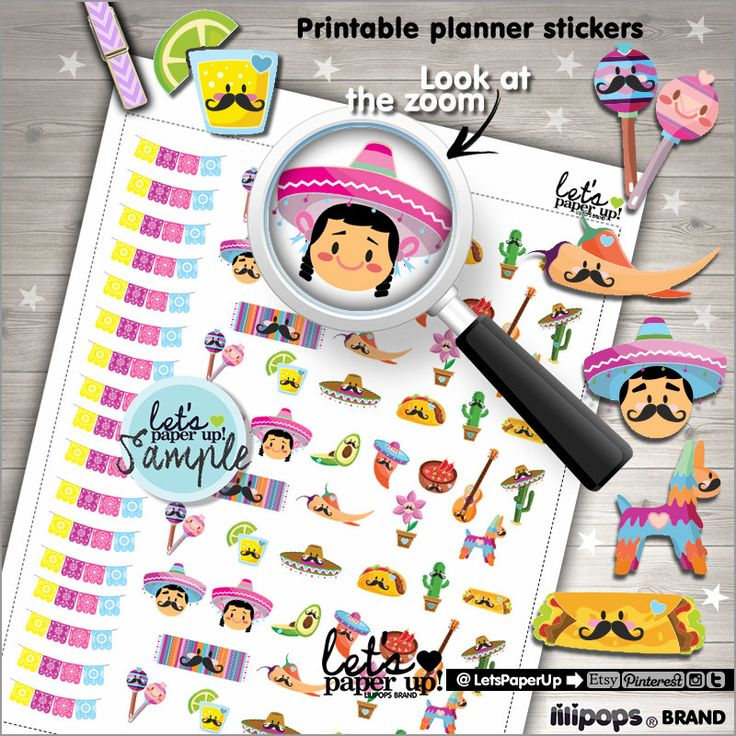 60%OFF - Mexican Stickers, Printable Planner Stickers, Kawaii Stickers, May Sticker, 5 de Mayo, Planner Accessories, Cute, Festive 5 de Mayo