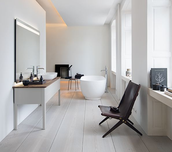 Designer bathroom brand Duravit is embracing the concept of 'less is more' with its new Scandinavian-inspired collection of washbasins, bat...