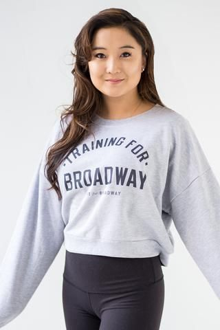 """Training for Broadway"" Cropped Sweatshirt (Grey)"