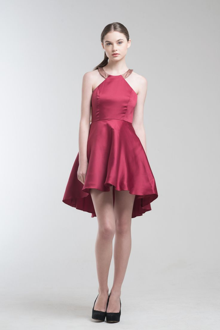 Kayla Dress in Red | Simple yet sophisticated. The perfect dress for every occasion from Jolie Clothing  #JolieClothing www.jolie-clothing.com  #Fashion #designer #jolie #Charity #foundation #World #vision #indonesia  #online #shop #stefanitan #fannytjandra #blogger