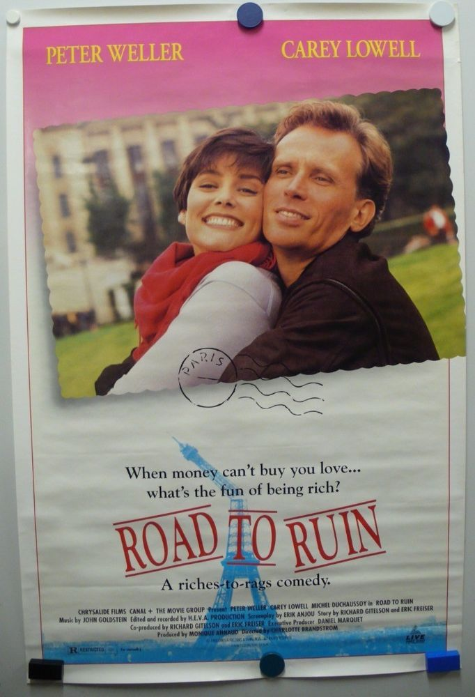 ROAD TO RUN 1992 Peter Weller, Carey Lowell, and Michel Duchaussoy-Poster