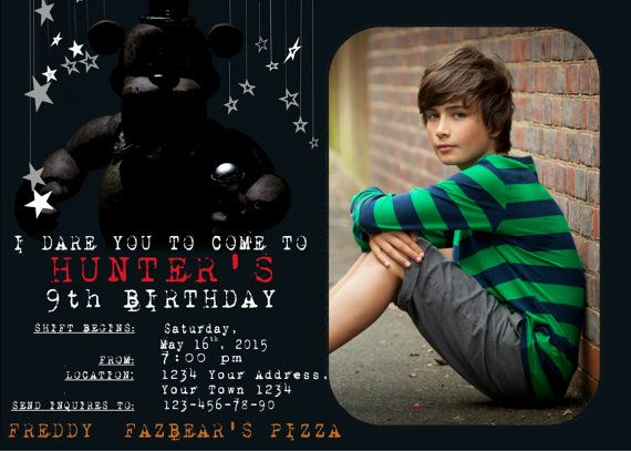 Night five nights at freddy s and invitations on pinterest