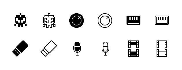 A collection of 12000 line icons (including combinations in the likeness of the iOS tab icons, available with vector sources, png's and an addon generator.