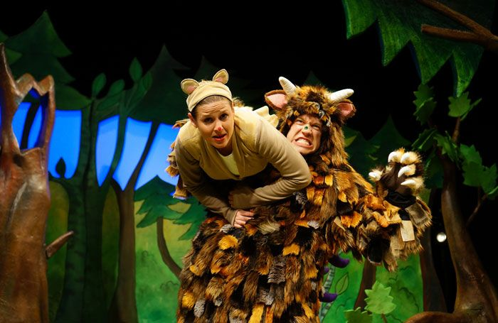 Ellie Bell and Owen Guerin in The Gruffalo at the Vaudeville Theatre, London, in 2015.  Gruffalo company launches free schools tour