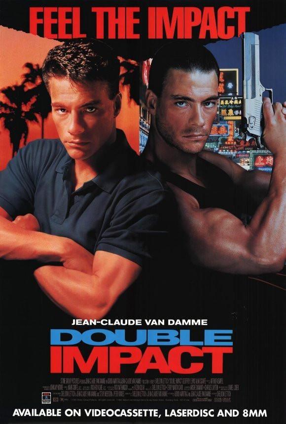 Double Impact 27x40 Movie Poster 1991 Double Impact Jean Claude Van Damme Van Damme